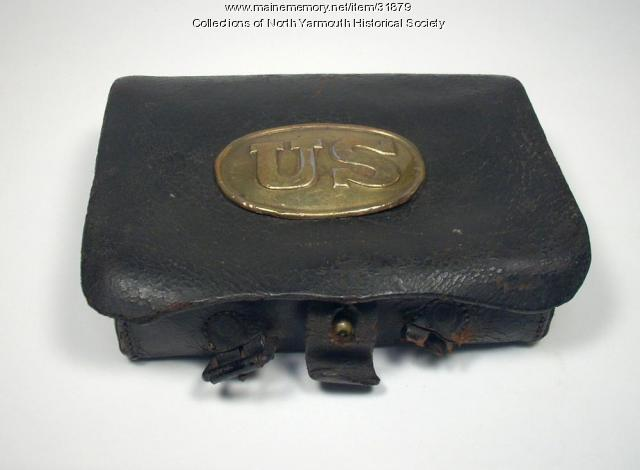 Civil War Cartridge Box owned by Luther Lawrence, ca. 1862