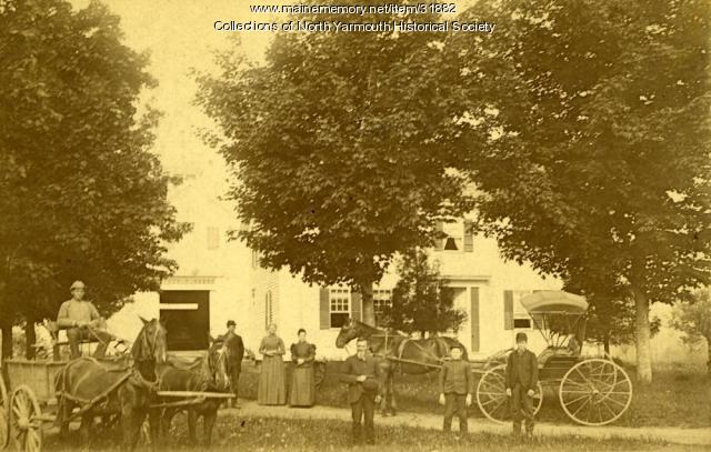 Members of the Lawrence family at Riverside Farm, North Yarmouth, 1895