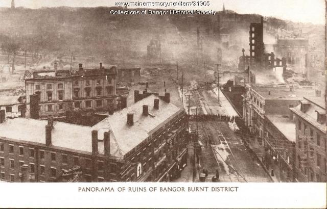 Downtown burnt district, Bangor, 1911