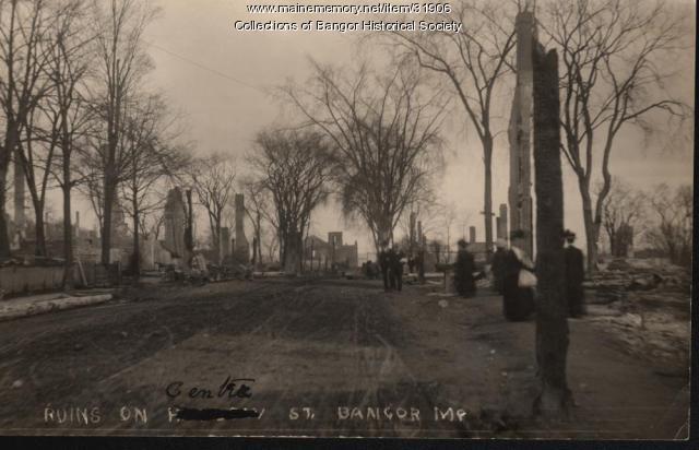 Center Street Ruins, Bangor, 1911