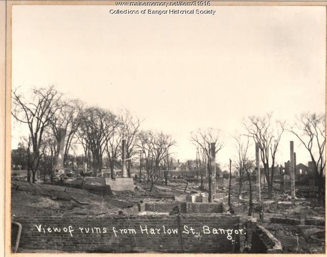 Harlow Street Ruins, Bangor, 1911