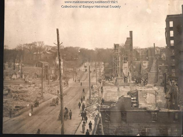 State Street after fire, Bangor, 1911