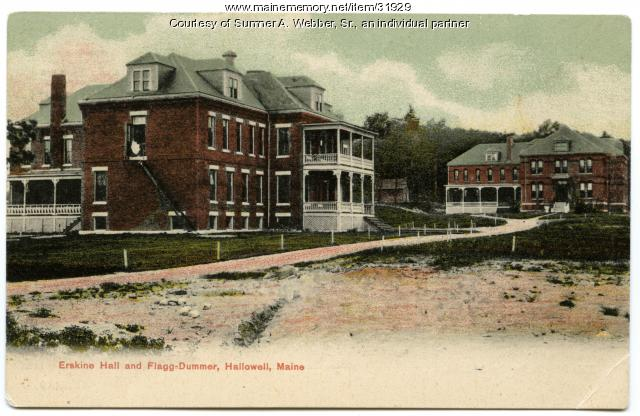 Industrial School for Girls, Erskine Hall, Hallowell, ca. 1900