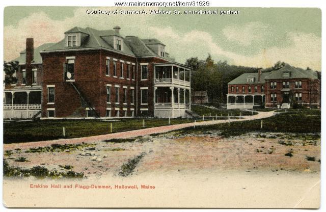 Industrial School for Girls, Erskine Hall, Hallowell, ca. 1900