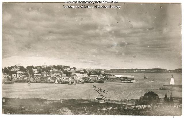 Village panorama, Lubec, ca 1900