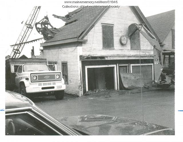 Newspaper building, Lubec, ca. 1975