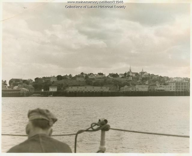 Johnson Street fish packing and canning factories, Lubec, ca. 1920