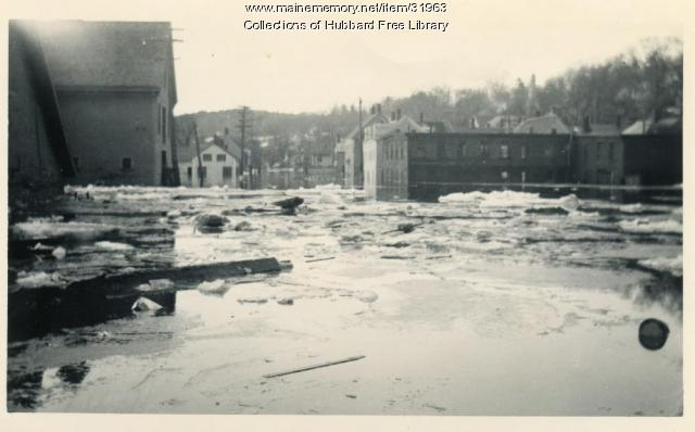 Flood, Wingate Coal looking south, Hallowell, 1936