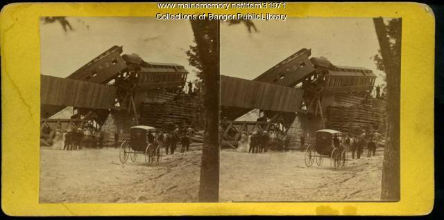 Tin Bridge train wreck, Bangor, 1871