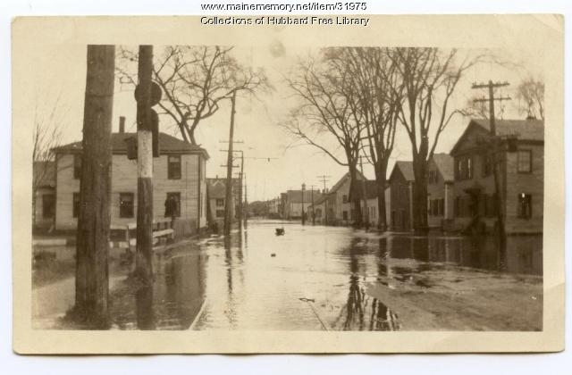 Flood, Joppa looking north, Hallowell, 1923