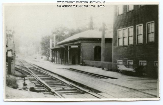 Maine Central R. R. Station, Hallowell, ca. 1930