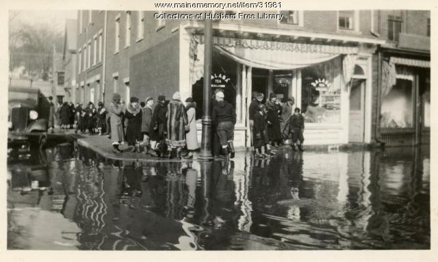 Flood, Ballard's Market, Hallowell, 1936