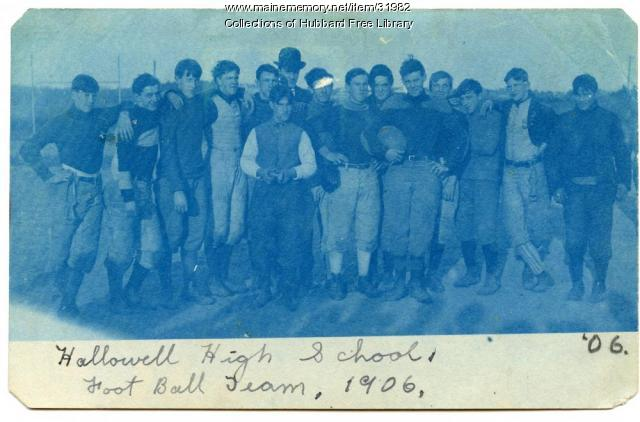 Hallowell High School football team, Hallowell, 1906