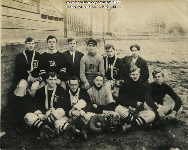 Hallowell High School baseball team, 1910