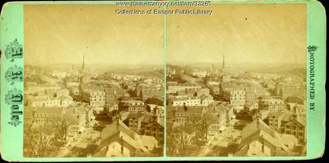 View from Hammond Street, Bangor, ca. 1885