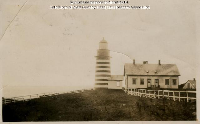 West Quoddy Head Lighthouse, Lubec, ca. 1920