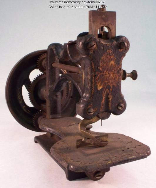 Shaw & Clark Sewing Machine, Biddeford, ca. 1865