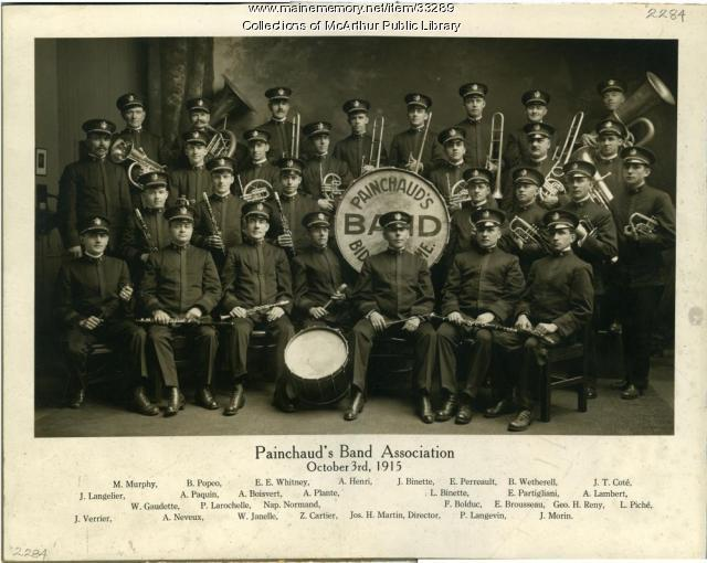 Painchaud's Band Association, Biddeford, 1915