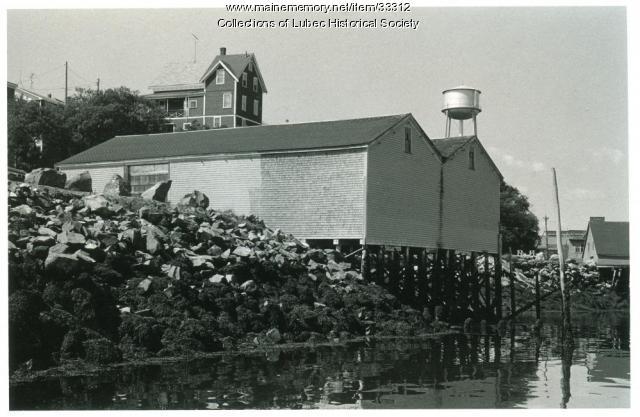 Wharf building, Lubec, ca. 1975