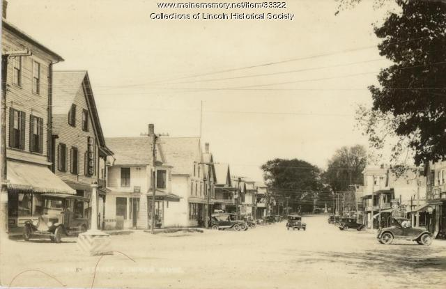 Lower West side of Main Street, Lincoln, ca. 1925
