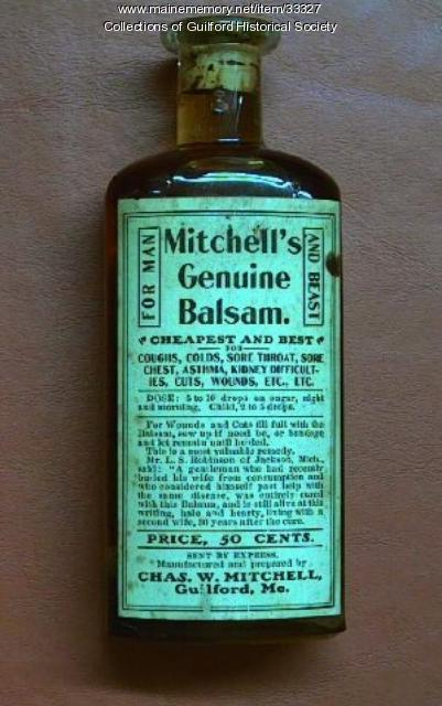 Mitchell's Genuine Balsam Remedy, Guilford, ca. 1904