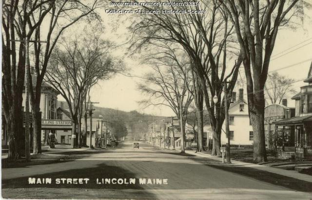 Main Street, Lincoln, ca. 1920