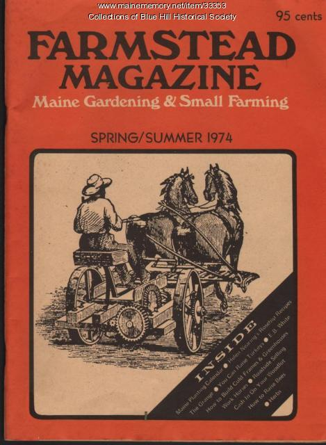 Cover of first issue of Farmstead Magazine, 1974