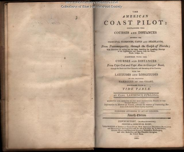 "Title page of 1804 monograph ""The American Coast Pilot"""