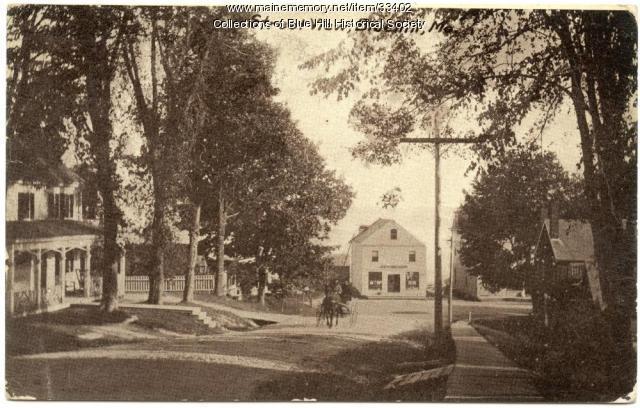 Pleasant Street toward Blue Hill Harbor, ca. 1905
