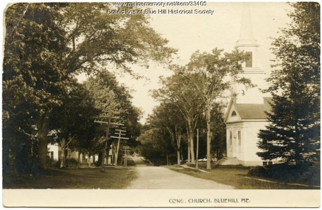 Congregational Church, Blue Hill, ca. 1910
