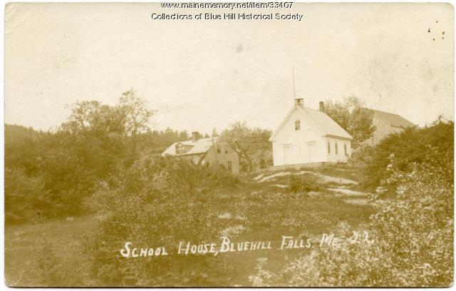 Blue Hill Falls school house, ca. 1910