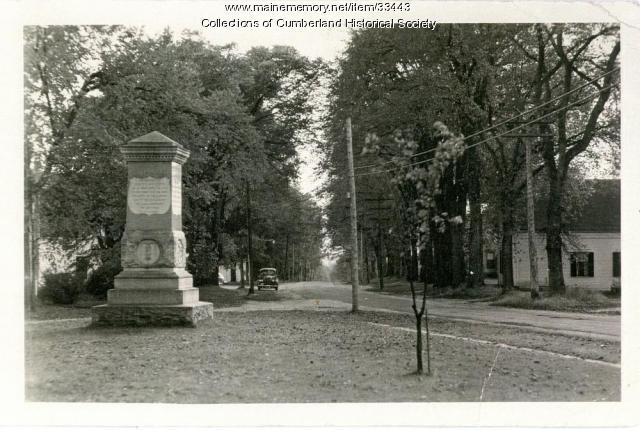 Merrill Memorial Monument, Cumberland Center, ca. 1928