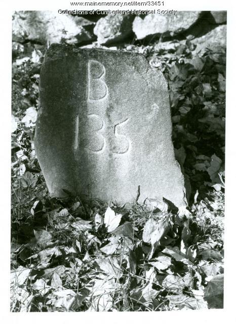 King's Highway mile marker B 135, Cumberland, 1975