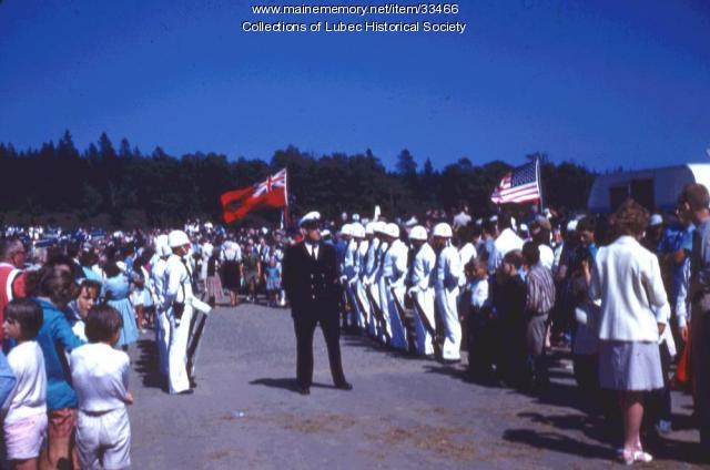 Roosevelt Bridge dedication audience, Lubec, 1962