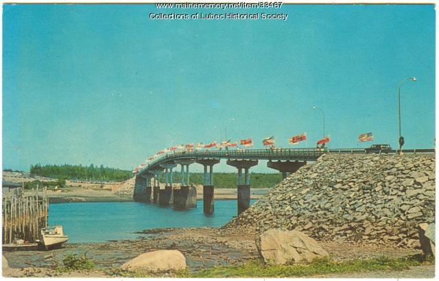 Roosevelt Bridge opening, Lubec, 1962
