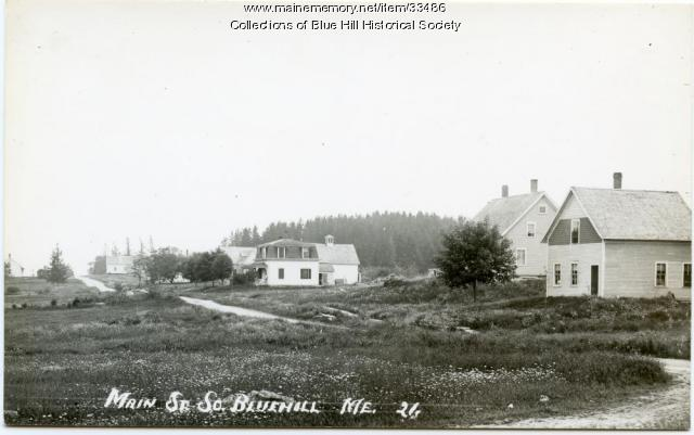 Main Street in South Blue Hill. ca. 1910