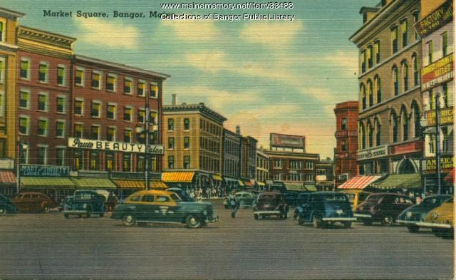 Market Square, Bangor, 1945