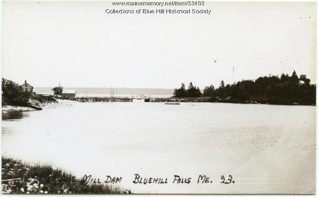 Mill Island Causeway, Blue Hill, ca. 1910