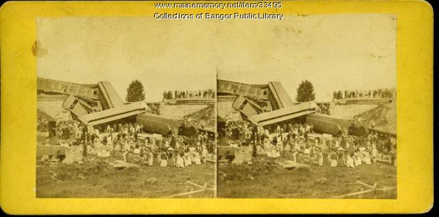 Train Wreck at Tin Bridge, Bangor, 1871