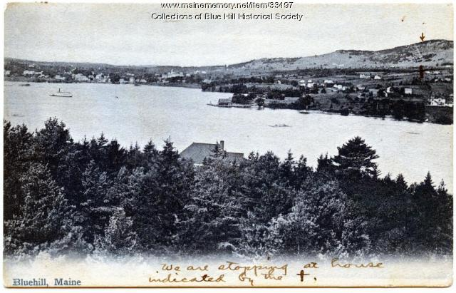 Inner Harbor and village, Blue Hill, ca. 1905
