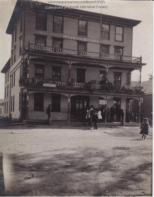 Wedding at Lincoln House Hotel, Lincoln, ca. 1890