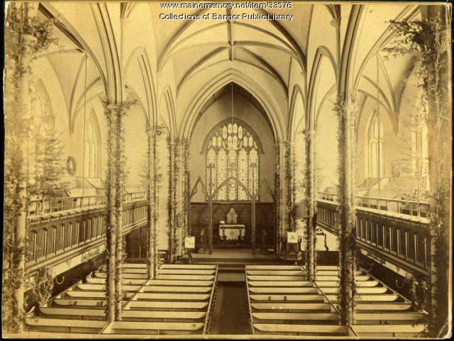 Interior of St. John's Episcopal Church, Bangor, 1895