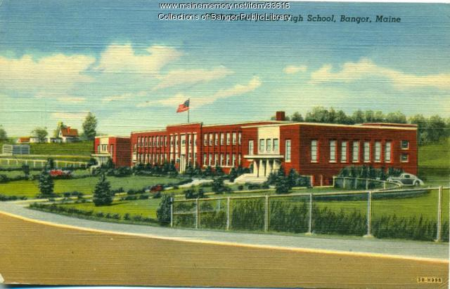 Fifth Street Junior High School, Bangor, ca. 1940