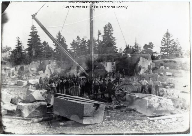East Blue Hill Granite Quarry, ca. 1900