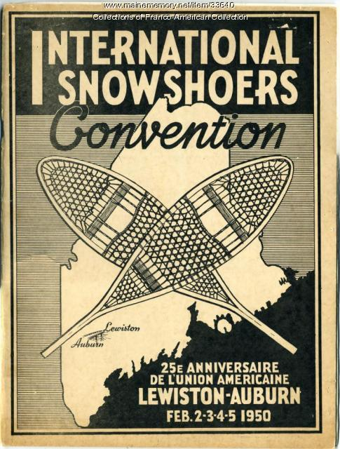 International Snowshoe Convention program, Lewiston-Auburn, 1950
