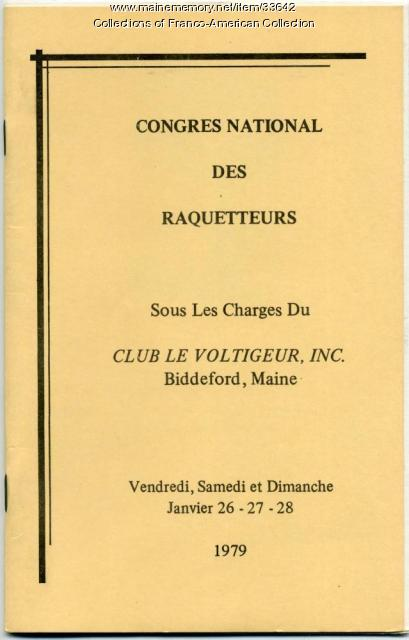 Congres National de Raquetteurs, Biddeford, 1979