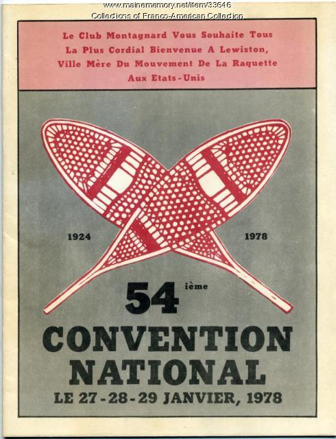 Program, 54th national snowshoe club convention, Lewiston, 1978