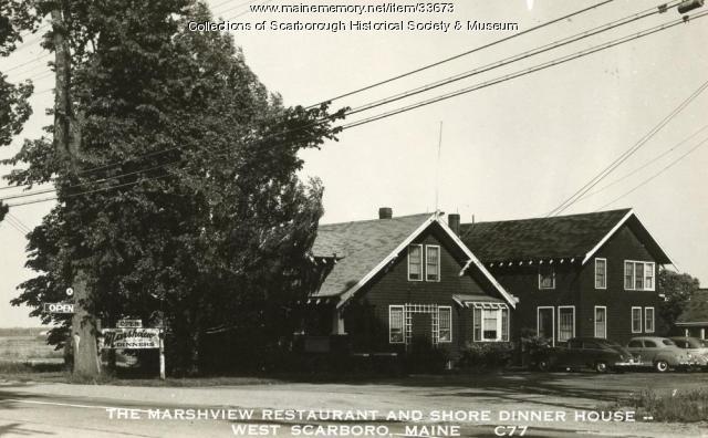 Marshview Restaurant and Shore Dinner House, Scarborough, ca. 1940