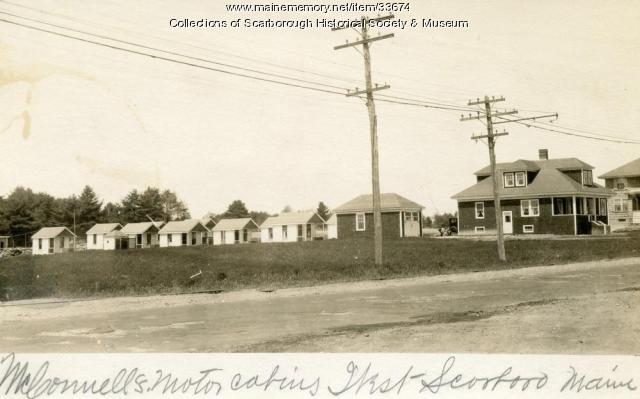 McConnell's Cabins, Scarborough, ca. 1928
