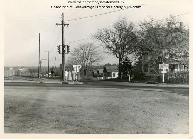 Oak Hill intersection, Scarborough, ca. 1950